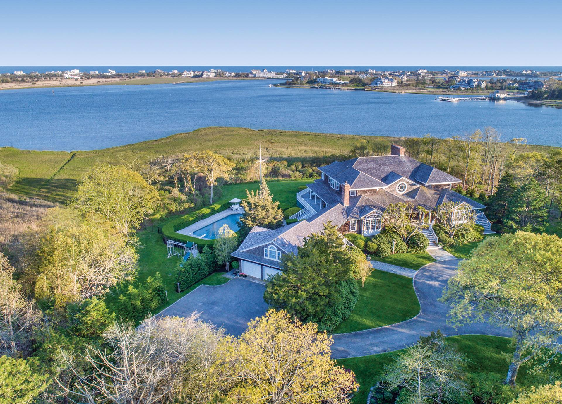 Single Family Home for Sale at Quogue Waterfront, Panoramic Water Views 32 Penniman Point Road, Quogue, New York