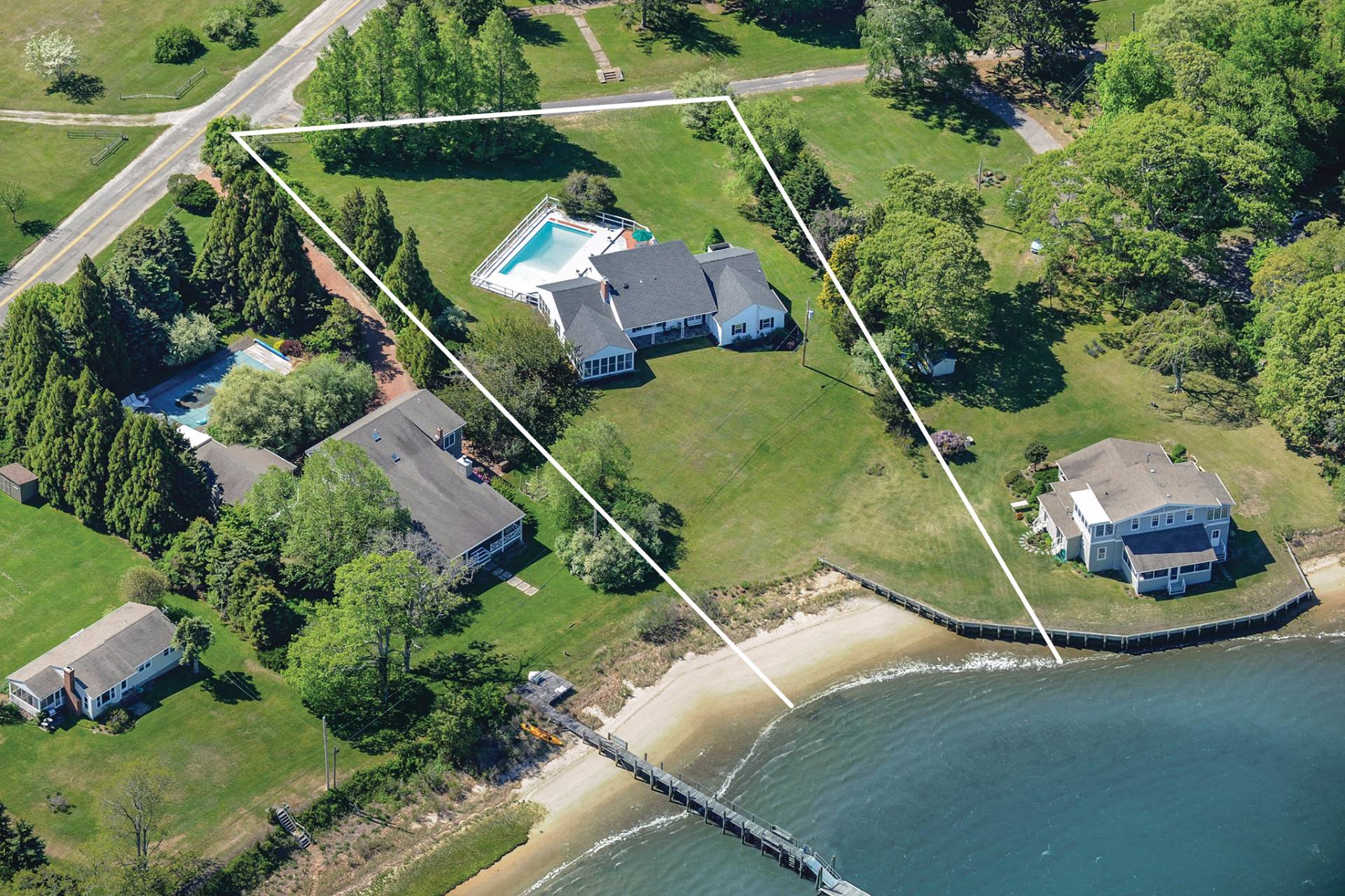 Single Family Home for Sale at Bay Front With Pool In Estate Section Shelter Island 16 Westmoreland Drive, Shelter Island, New York