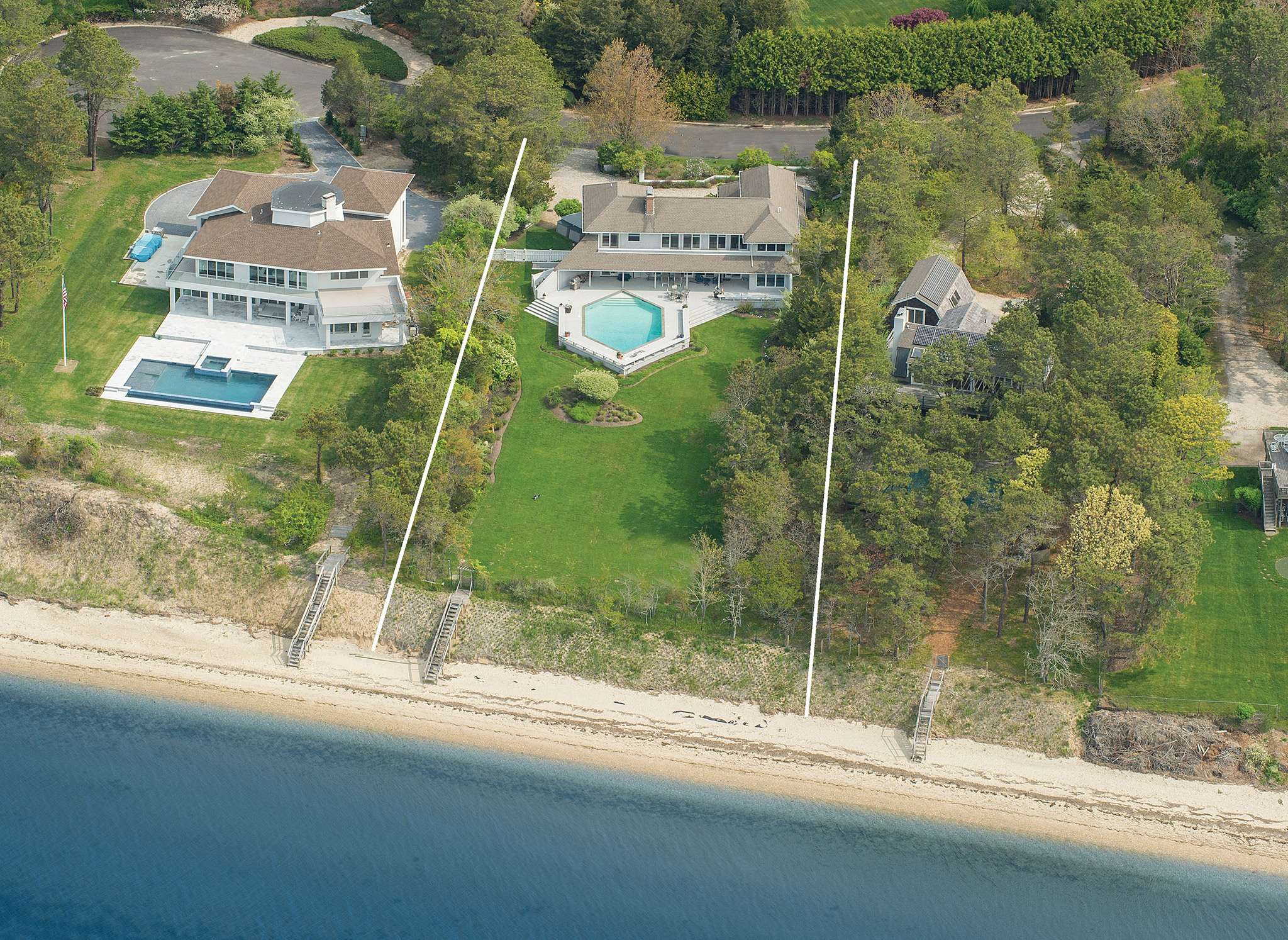 Single Family Home for Sale at Hamptons Waterfront With Spectacular Views 20 Sandringham Lane, Southampton, New York