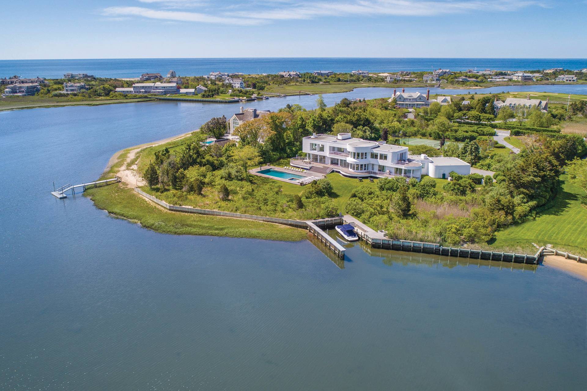 Single Family Home for Sale at Majestic Setting On Penniman Creek 48 Shinnecock Road, Quogue, New York