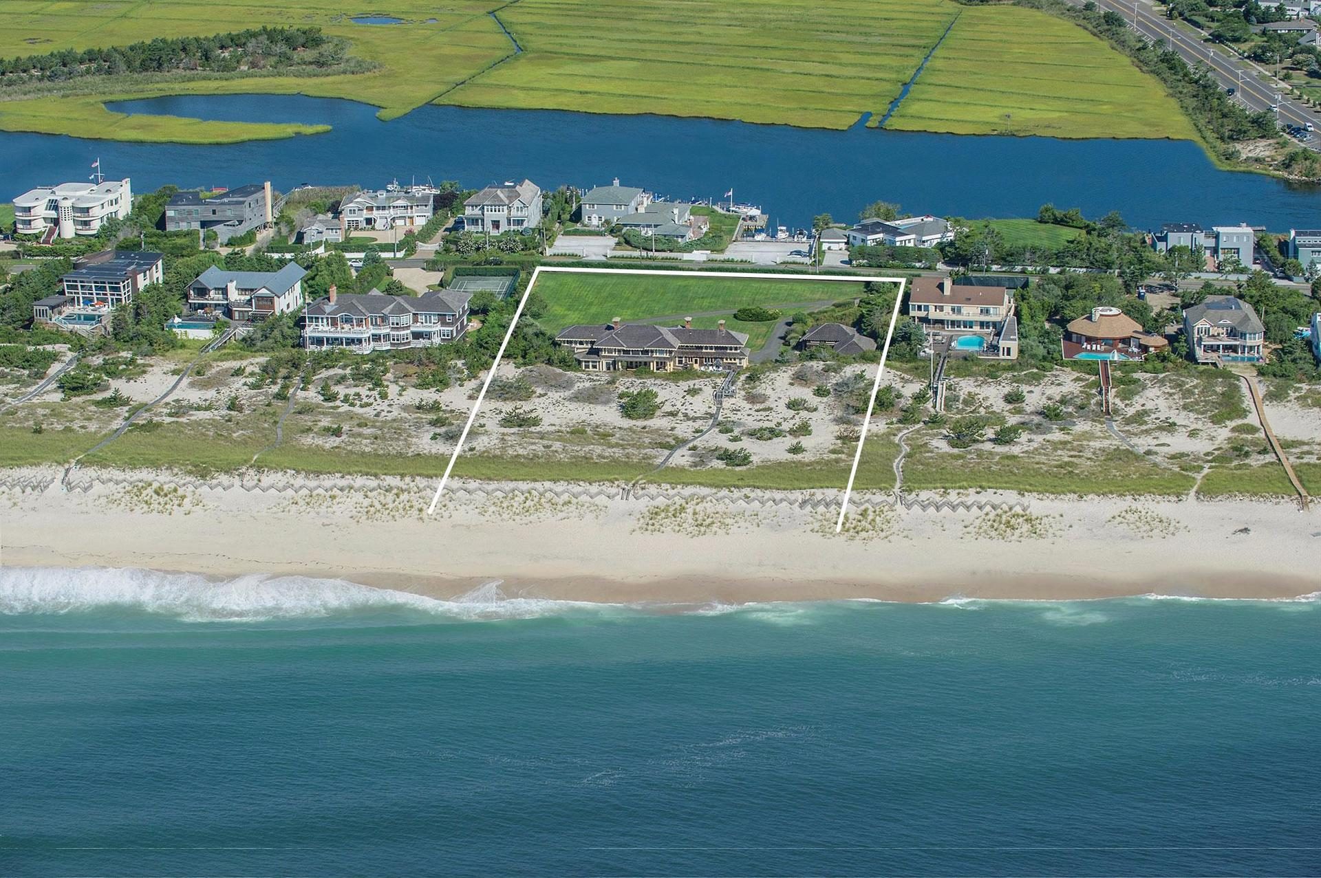 Single Family Home for Sale at Distinctive Shingle Style Oceanfront Estate 119 Dune Road, Westhampton Beach, New York