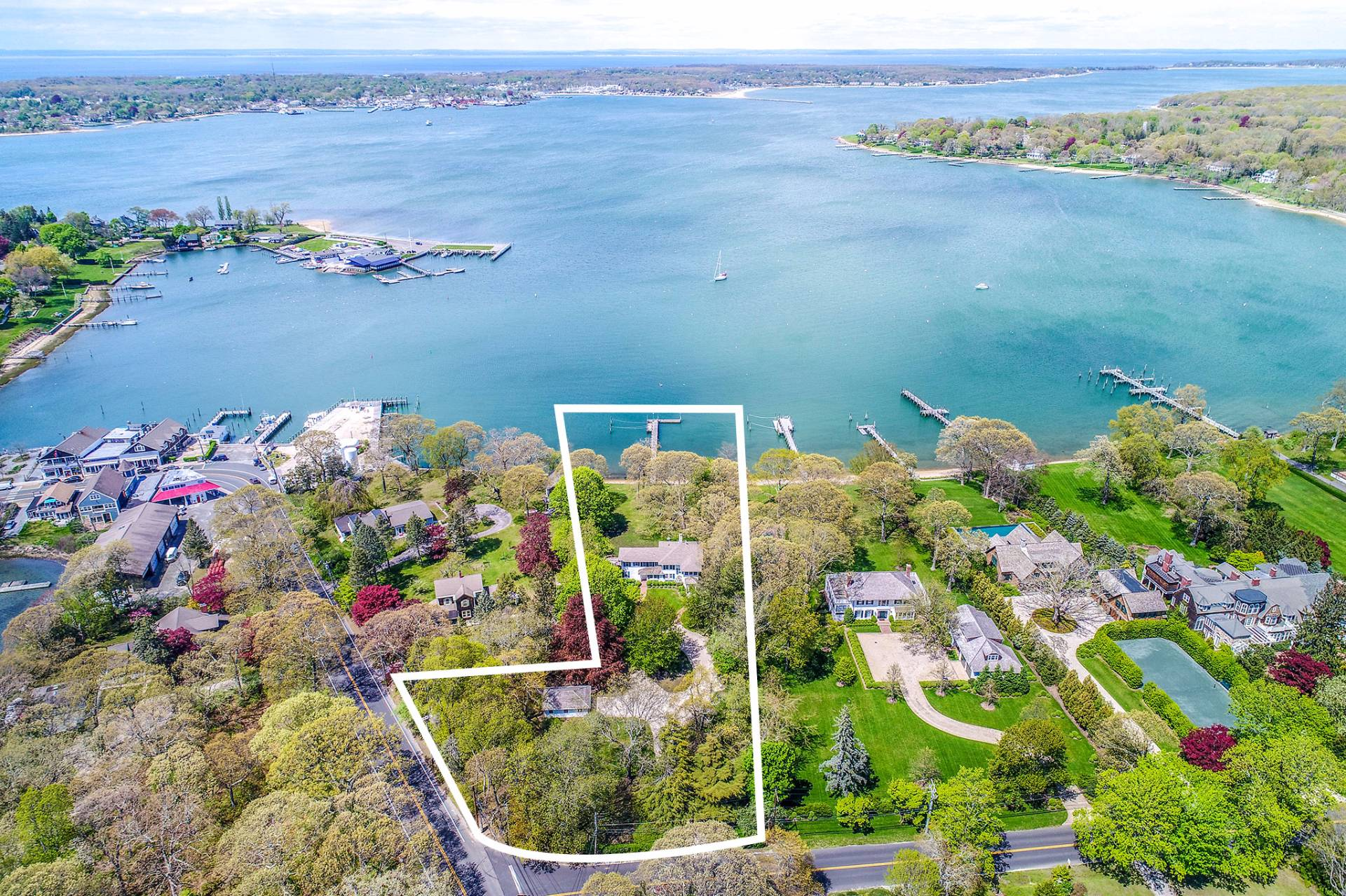 Single Family Home for Sale at Shelter Island 1890 Dering Harbor Colonial With Deep Water Dock 1 Winthrop Road, Shelter Island Heights, New York