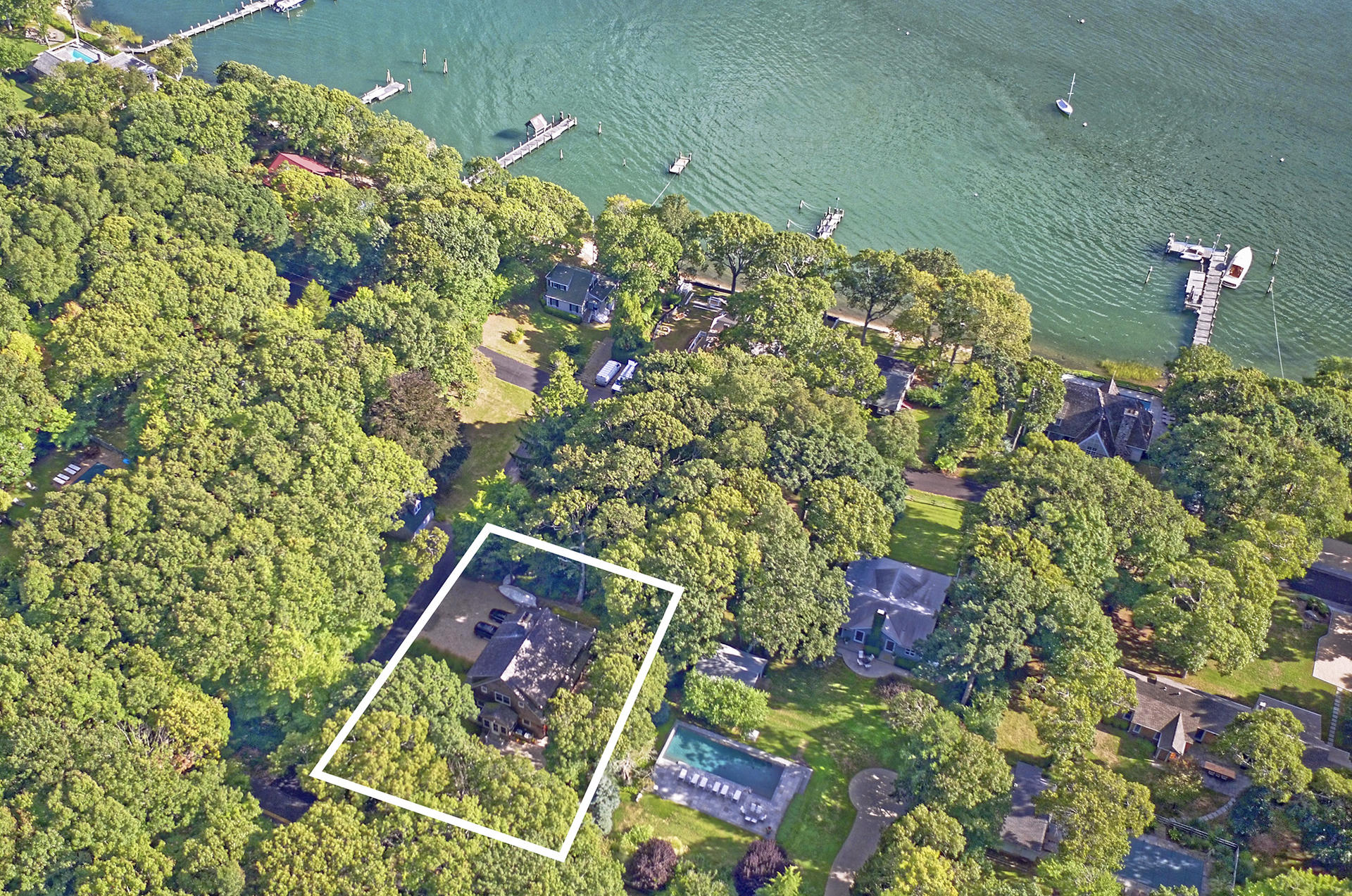 Single Family Home for Sale at Ram Island Traditional Adjacent To Preserve 62 South Ram Island Drive, Shelter Island, New York