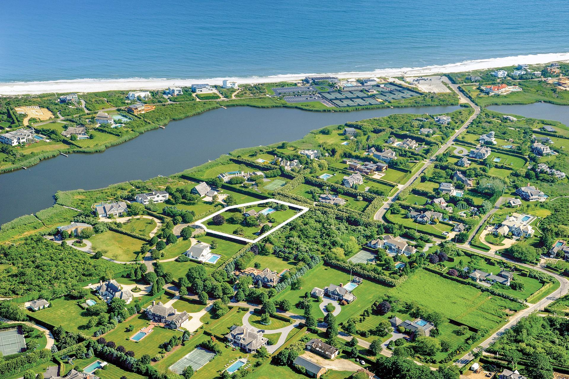 Single Family Home for Sale at Bridgehampton South Ocean And Tributary Bay Views 114 Rose Way, Bridgehampton, New York