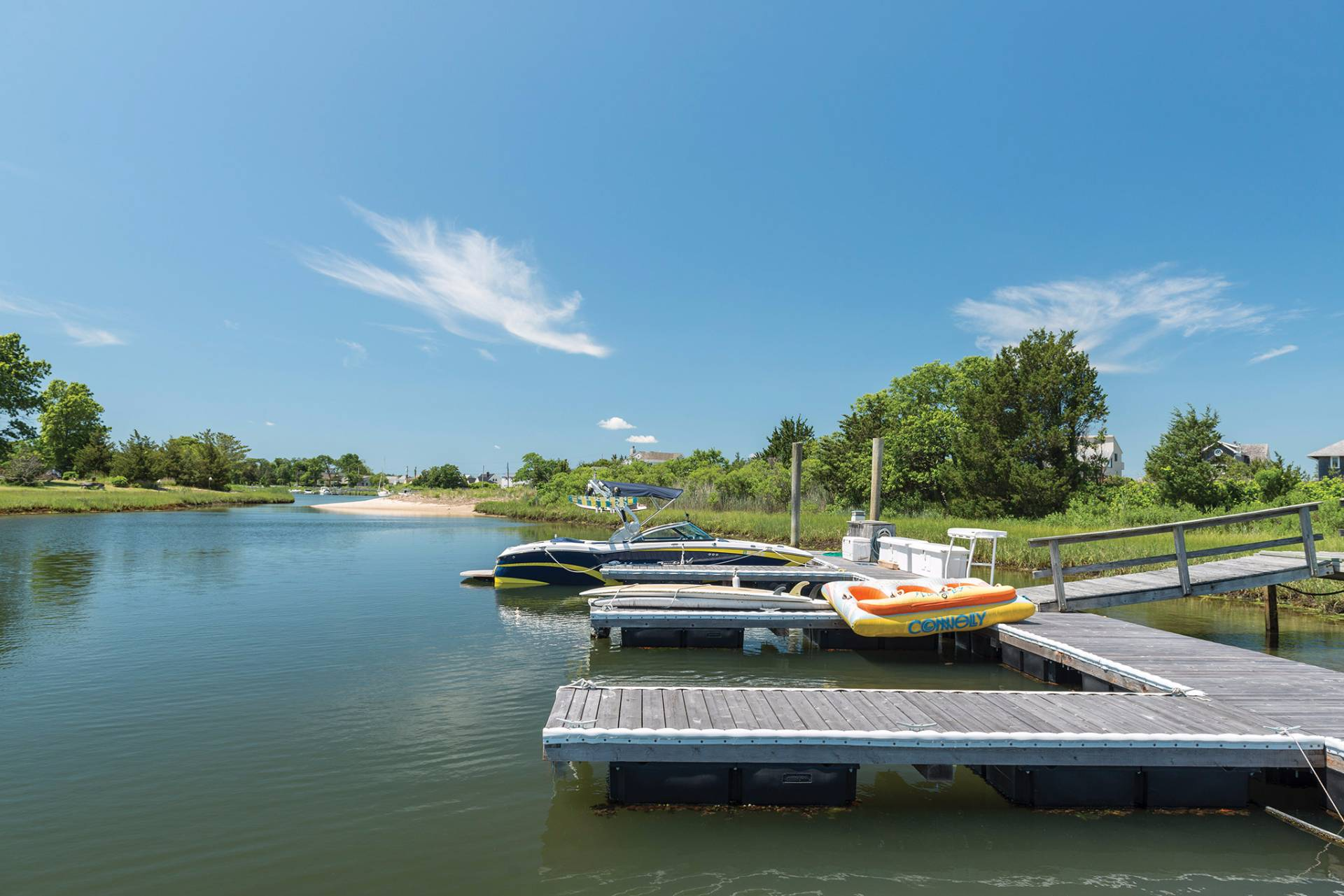 Additional photo for property listing at Bayfront - Pool - Tennis - Deep Water Dock - Beach 66 Peconic Bay Avenue,  Southampton, New York