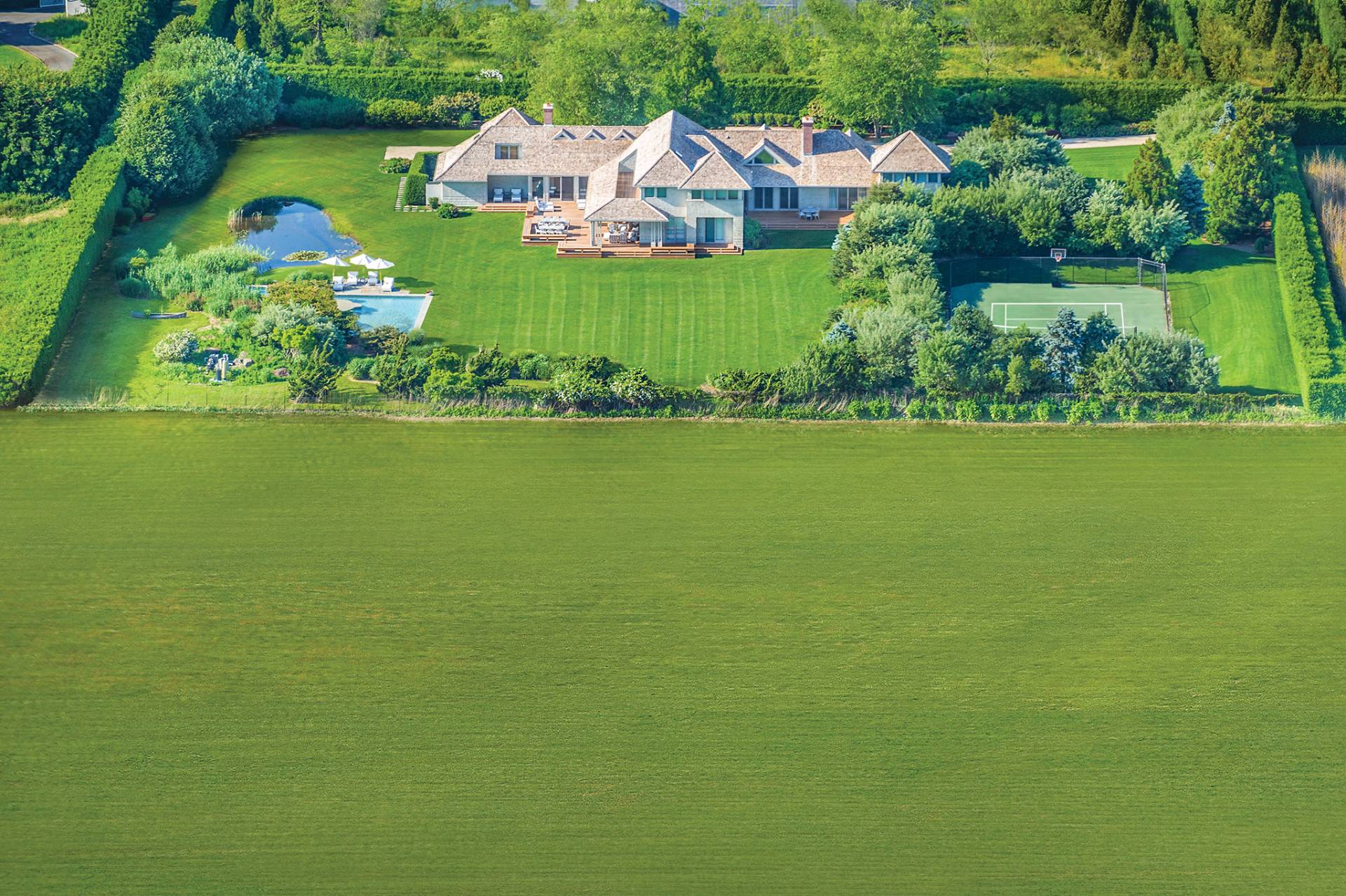 Casa Unifamiliar por un Venta en Superlative Sagaponack South Estate 836 Sagg Main Street, Sagaponack, Nueva York