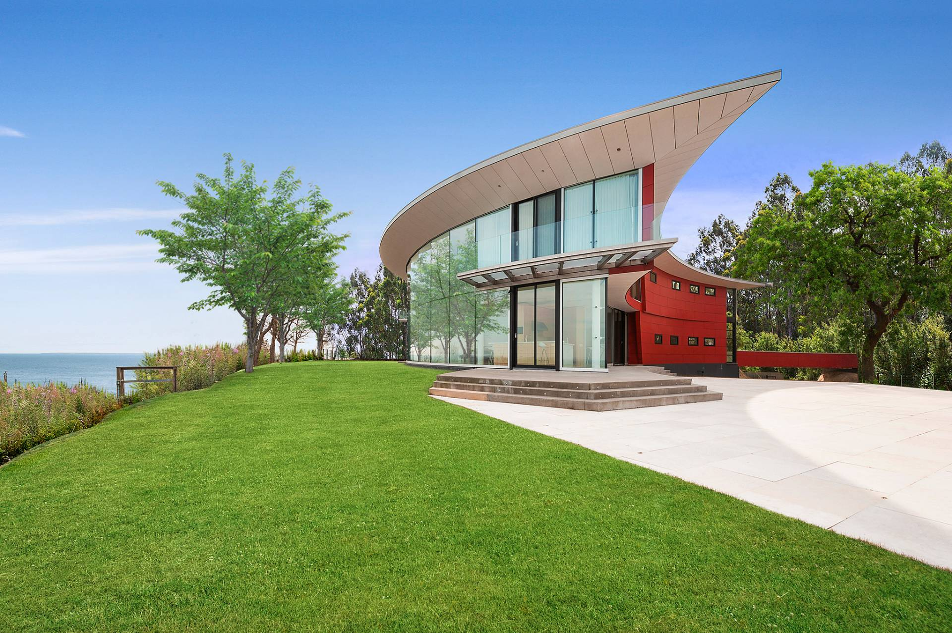 Single Family Home for Rent at Fabulous, Sun-Filled Shelter Island Modern Waterfront With Pool 179 Ram Island Drive, Shelter Island, New York