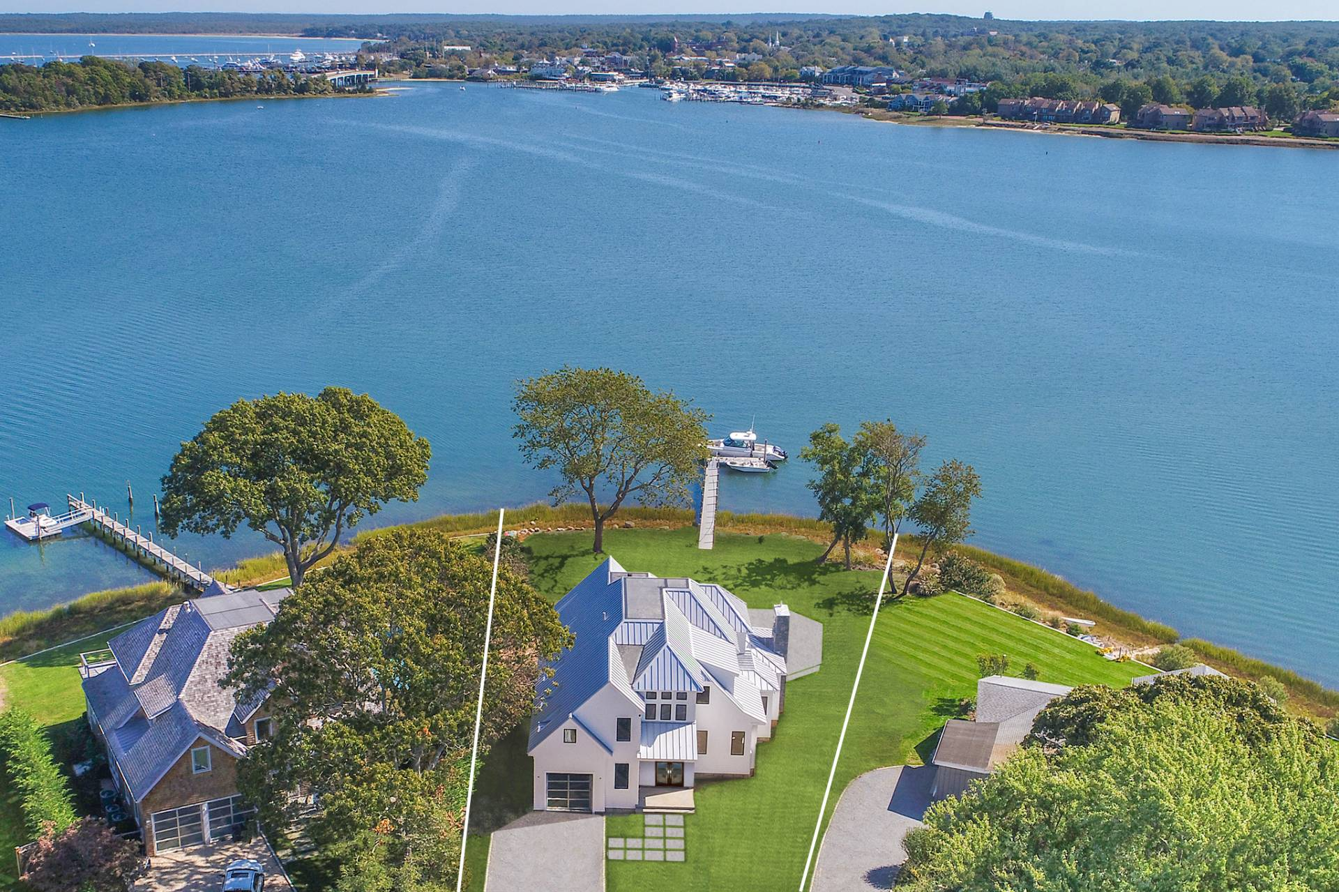 Single Family Home for Sale at Spectacular New Sag Harbor Waterfront 82 Harbor Drive, Sag Harbor, New York