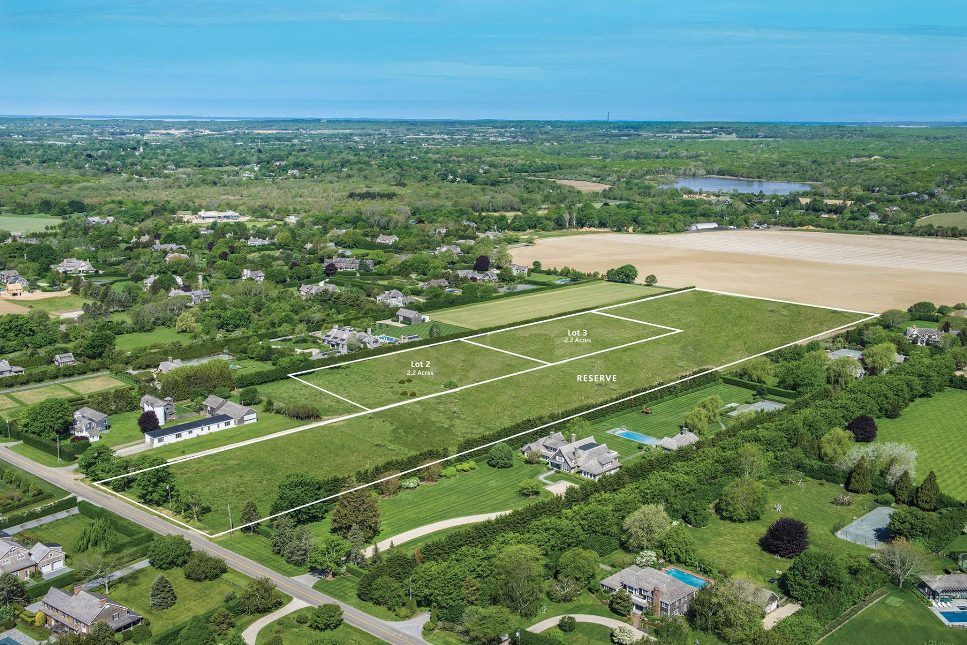 Terreno por un Venta en The Land At Luna Farm 284 Parsonage Lane - Lot 3, Sagaponack, Nueva York