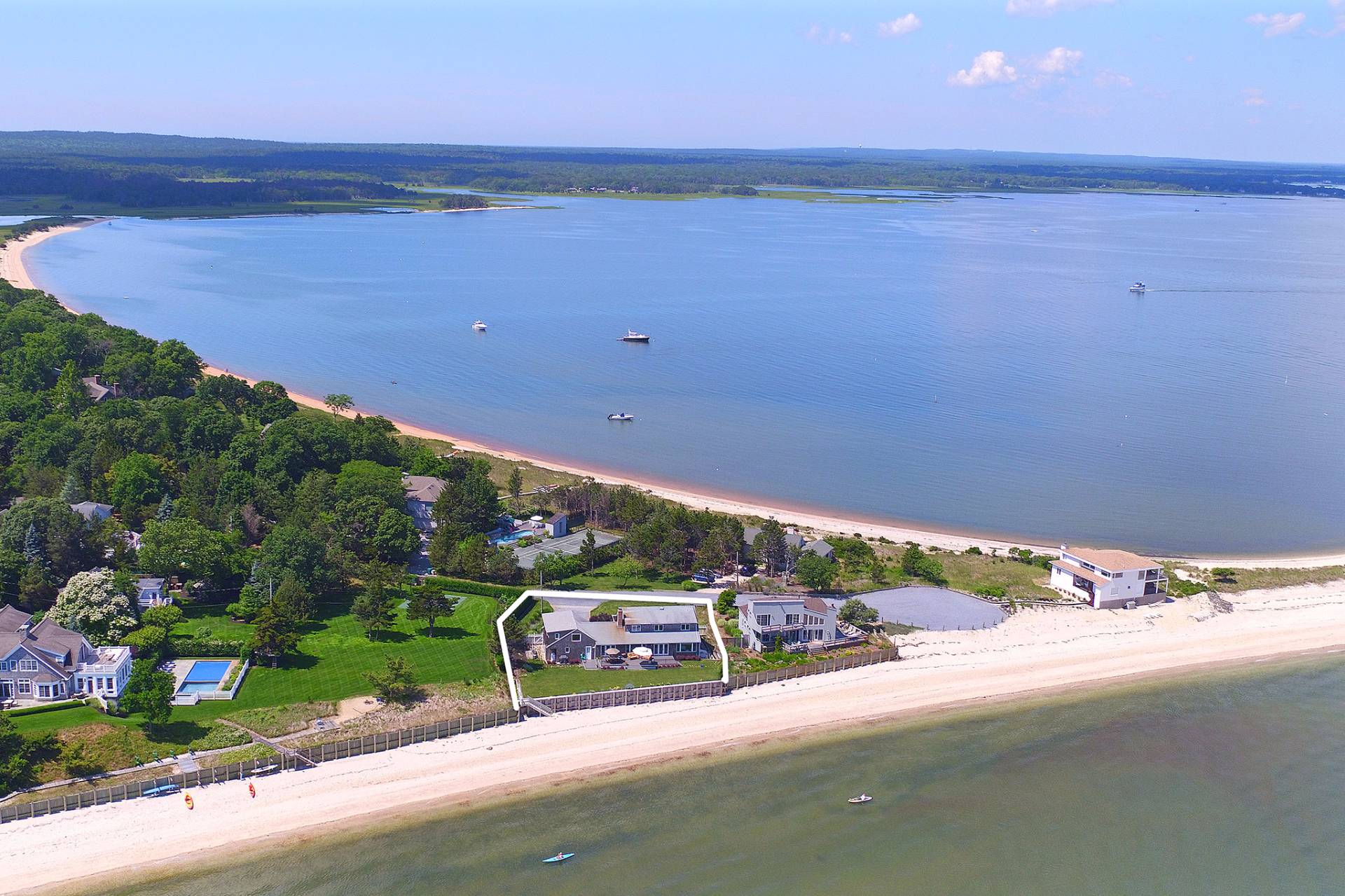 Single Family Home for Sale at 120 Ft Of Bulkheading And Panoramic Water Views 10 Barrett Drive, Hampton Bays, New York