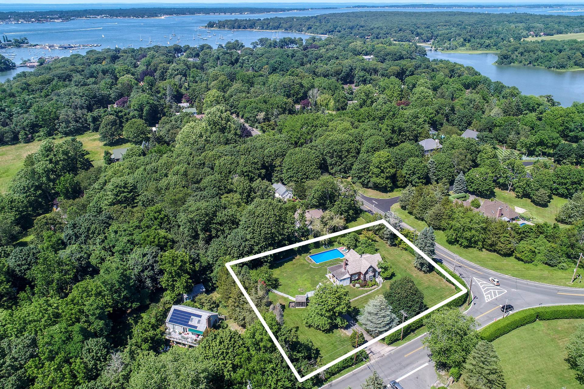 Single Family Home for Sale at Shelter Island Farmhouse With Pool 2 West Neck Road, Shelter Island, New York