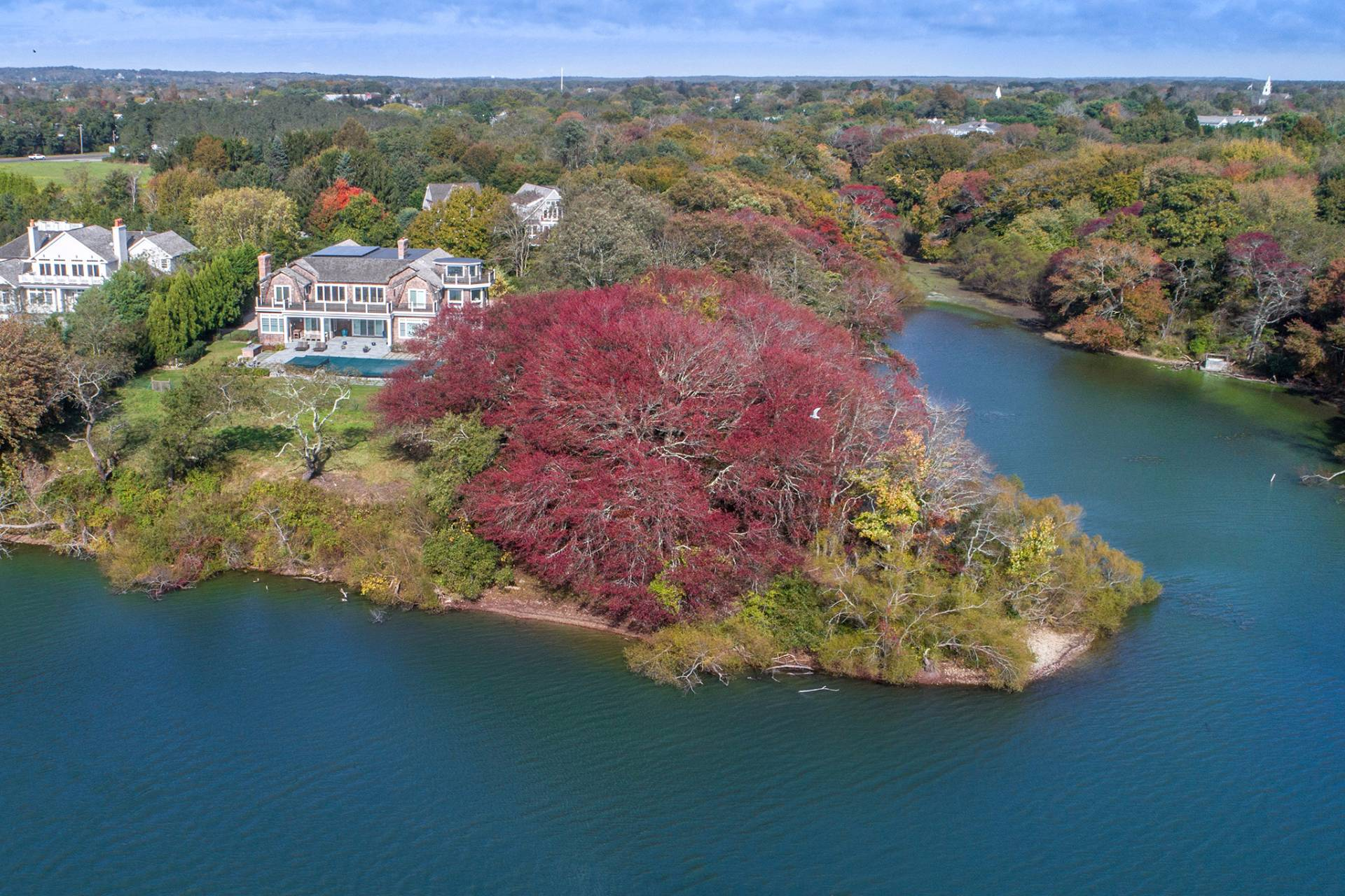 Single Family Home for Sale at Magnificent Bridgehampton South Waterfront Bridgehampton, New York